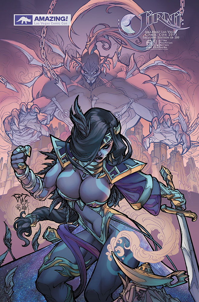 Amazing Las Vegas Comic Con 2013 exclusive cover for Jirni issue #3, cover D by Paolo Pantalena